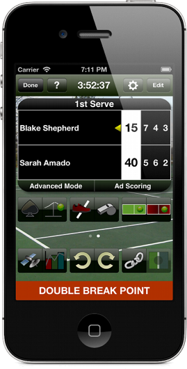 Tennis Score Tracker iPhone image